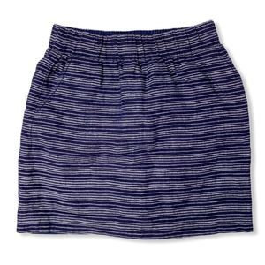 LOFT linen pull-on striped skirt